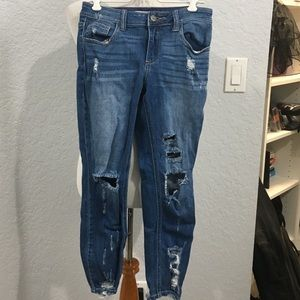 3/$42! Distressed jeans